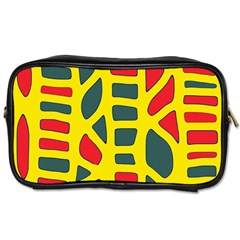 Yellow, green and red decor Toiletries Bags