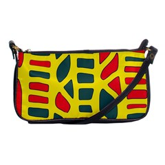 Yellow, green and red decor Shoulder Clutch Bags