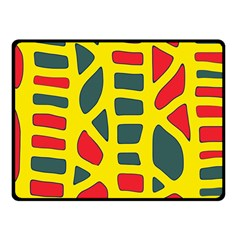 Yellow, green and red decor Fleece Blanket (Small)