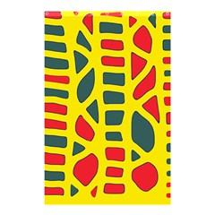Yellow, green and red decor Shower Curtain 48  x 72  (Small)