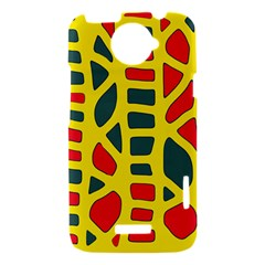 Yellow, green and red decor HTC One X Hardshell Case