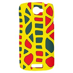 Yellow, green and red decor HTC One S Hardshell Case