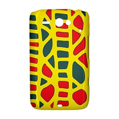 Yellow, green and red decor HTC ChaCha / HTC Status Hardshell Case