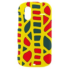 Yellow, green and red decor HTC Amaze 4G Hardshell Case