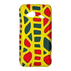 Yellow, green and red decor HTC Droid Incredible 4G LTE Hardshell Case