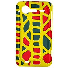 Yellow, green and red decor HTC Incredible S Hardshell Case