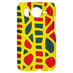 Yellow, green and red decor HTC Desire HD Hardshell Case