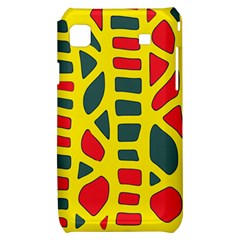 Yellow, green and red decor Samsung Galaxy S i9000 Hardshell Case