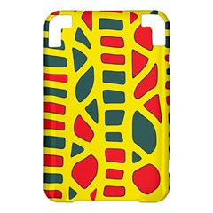Yellow, green and red decor Kindle 3 Keyboard 3G