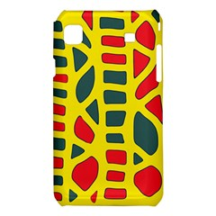 Yellow, green and red decor Samsung Galaxy S i9008 Hardshell Case