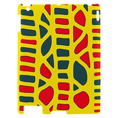 Yellow, green and red decor Apple iPad 2 Hardshell Case