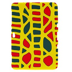 Yellow, green and red decor Samsung Galaxy Tab 8.9  P7300 Hardshell Case