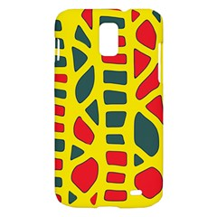 Yellow, green and red decor Samsung Galaxy S II Skyrocket Hardshell Case