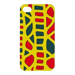 Yellow, green and red decor Apple iPhone 4/4S Premium Hardshell Case