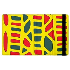 Yellow, green and red decor Apple iPad 3/4 Flip Case
