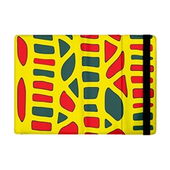 Yellow, green and red decor Apple iPad Mini Flip Case