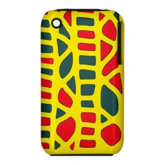 Yellow, green and red decor Apple iPhone 3G/3GS Hardshell Case (PC+Silicone)