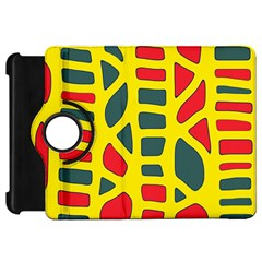 Yellow, green and red decor Kindle Fire HD Flip 360 Case