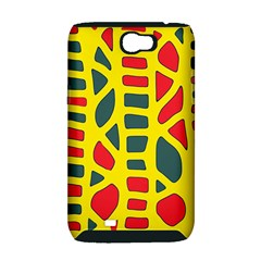 Yellow, green and red decor Samsung Galaxy Note 2 Hardshell Case (PC+Silicone)
