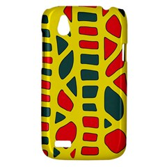 Yellow, green and red decor HTC Desire V (T328W) Hardshell Case