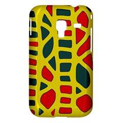 Yellow, green and red decor Samsung Galaxy Ace Plus S7500 Hardshell Case