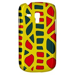 Yellow, green and red decor Samsung Galaxy S3 MINI I8190 Hardshell Case