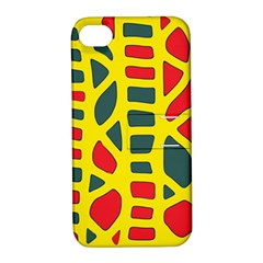 Yellow, green and red decor Apple iPhone 4/4S Hardshell Case with Stand