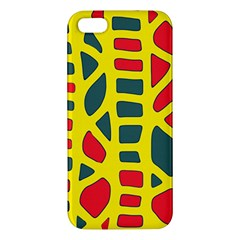 Yellow, green and red decor Apple iPhone 5 Premium Hardshell Case