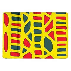 Yellow, green and red decor Samsung Galaxy Tab 10.1  P7500 Flip Case