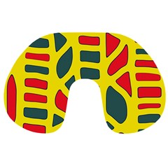 Yellow, green and red decor Travel Neck Pillows