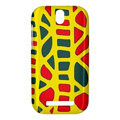 Yellow, green and red decor HTC One SV Hardshell Case