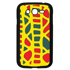 Yellow, green and red decor Samsung Galaxy Grand DUOS I9082 Case (Black)