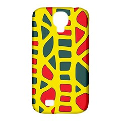 Yellow, green and red decor Samsung Galaxy S4 Classic Hardshell Case (PC+Silicone)