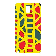 Yellow, green and red decor Samsung Galaxy Note 3 N9005 Hardshell Back Case