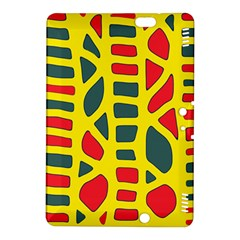 Yellow, green and red decor Kindle Fire HDX 8.9  Hardshell Case