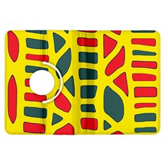 Yellow, green and red decor Kindle Fire HDX Flip 360 Case
