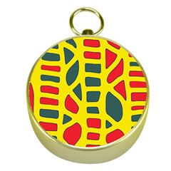 Yellow, green and red decor Gold Compasses