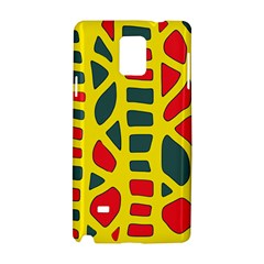 Yellow, green and red decor Samsung Galaxy Note 4 Hardshell Case