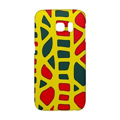 Yellow, green and red decor Galaxy S6 Edge