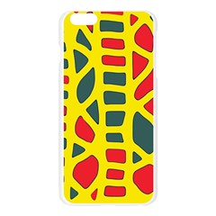 Yellow, green and red decor Apple Seamless iPhone 6 Plus/6S Plus Case (Transparent)