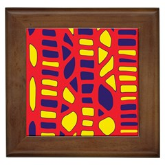 Red, yellow and blue decor Framed Tiles