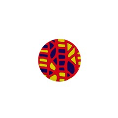 Red, yellow and blue decor 1  Mini Buttons