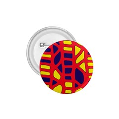 Red, yellow and blue decor 1.75  Buttons