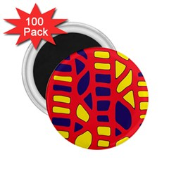 Red, yellow and blue decor 2.25  Magnets (100 pack)