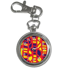 Red, yellow and blue decor Key Chain Watches