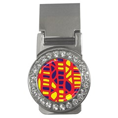 Red, yellow and blue decor Money Clips (CZ)