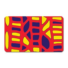Red, yellow and blue decor Magnet (Rectangular)