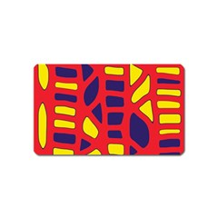 Red, yellow and blue decor Magnet (Name Card)