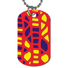 Red, yellow and blue decor Dog Tag (One Side)