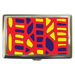 Red, yellow and blue decor Cigarette Money Cases